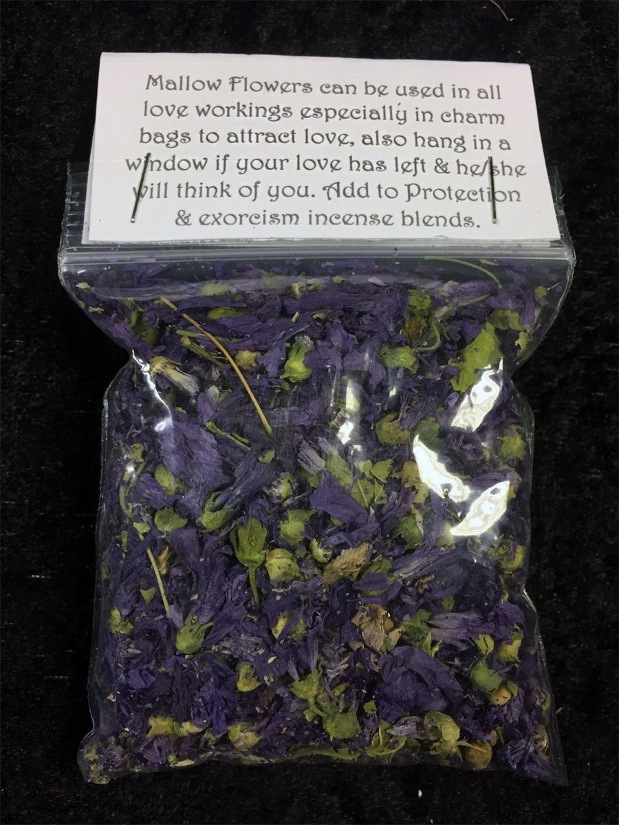Mallow Flowers (Blue) Dried Spell Craft Herb | Pagan, Wicca